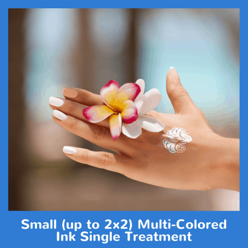 Small (up to 2x2) Multi-Colored Ink Single Treatment