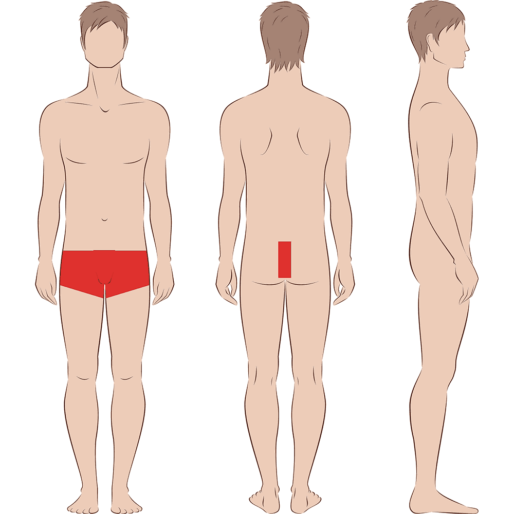 Male Brazilian Extended Laser Hair Removal Indy Laser