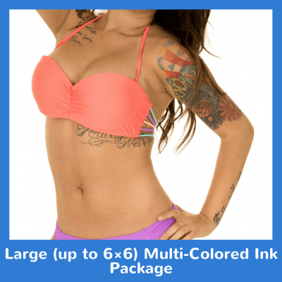 Large up to 6×6 Multi-Colored Ink Package