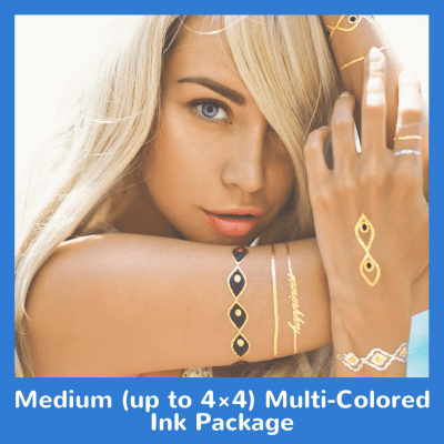 Medium up to 4×4 Multi-Colored Ink Package